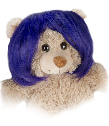 "Purple Wig - Short Bob - 16"" bears"